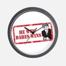 HE WHO DARES WINS Wall Clock