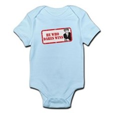 HE WHO DARES WINS Infant Bodysuit