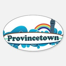 Provincetown MA - Surf Design. Decal
