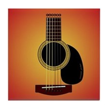 acoustic guitar cherry sunburst Tile Coaster