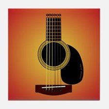 acoustic guitar cherry sunburst Tile Coaster