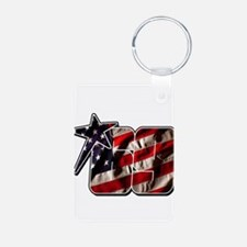 NHflagStar Aluminum Photo Keychain