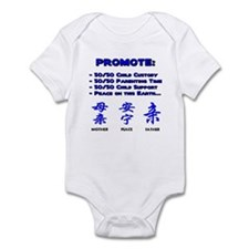Promote 50/50 Oriental Blue Infant Creeper