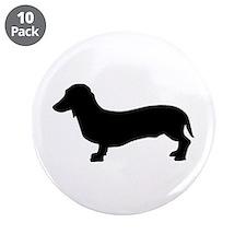 """Dog dachshund 3.5"""" Button (10 pack)"""