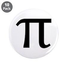 """Math Geek Nerd Pi 3.5"""" Button (10 pack)"""