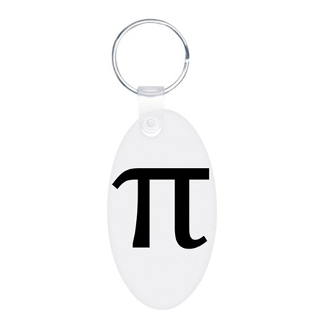 Math Geek Nerd Pi Aluminum Oval Keychain