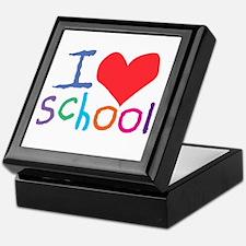 I Love (Heart) School Keepsake Box