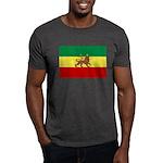 Lion of Judah Ethopian Flag Dark T-Shirt