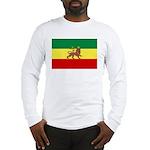 Lion of Judah Ethopian Flag Long Sleeve T-Shirt