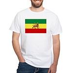 Lion of Judah Ethopian Flag White T-Shirt