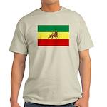 Lion of Judah Ethopian Flag Light T-Shirt