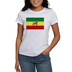 Lion of Judah Ethopian Flag Women's T-Shirt