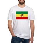 Lion of Judah Ethopian Flag Fitted T-Shirt