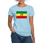Lion of Judah Ethopian Flag Women's Light T-Shirt