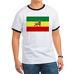 Lion of Judah Ethopian Flag Ringer T