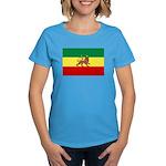 Lion of Judah Ethopian Flag Women's Dark T-Shirt