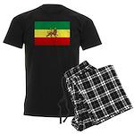 Lion of Judah Ethopian Flag Men's Dark Pajamas