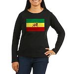 Lion of Judah Ethopian Flag Women's Long Sleeve Da