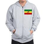 Lion of Judah Ethopian Flag Zip Hoodie