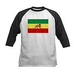 Lion of Judah Ethopian Flag Kids Baseball Jersey
