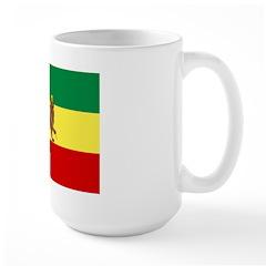 Lion of Judah Ethopian Flag Large Mug