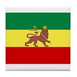 Lion of Judah Ethopian Flag Tile Coaster