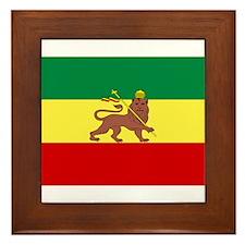 Lion of Judah Ethopian Flag Framed Tile