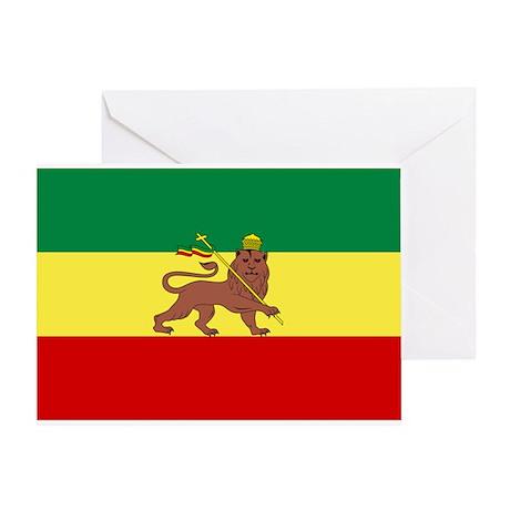 Lion of Judah Ethopian Flag Greeting Card