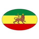 Lion of Judah Ethopian Flag Sticker (Oval 50 pk)