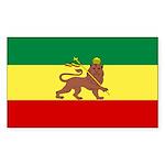 Lion of Judah Ethopian Flag Sticker (Rectangle 50