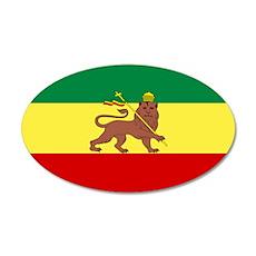 Lion of Judah Ethopian Flag 22x14 Oval Wall Peel
