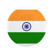 "Flag of India 3.5"" Button"