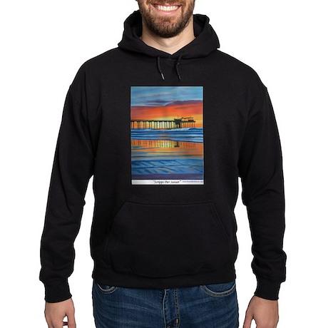 Scripps Pier Sunset Hoodie (dark)