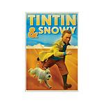 Tintin & Snowy Rectangle Magnet
