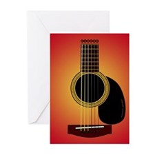 acousticguitar cherrysunburst G Cards Pk of 10
