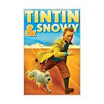 Tintin & Snowy Mini Poster Print