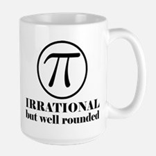 Pi: Irrational But Well Rounded Large Mug