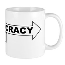 Democracy vs WTO Mug