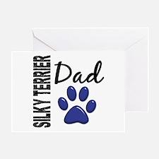 Silky Terrier Dad 2 Greeting Card