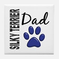 Silky Terrier Dad 2 Tile Coaster