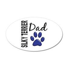 Silky Terrier Dad 2 22x14 Oval Wall Peel