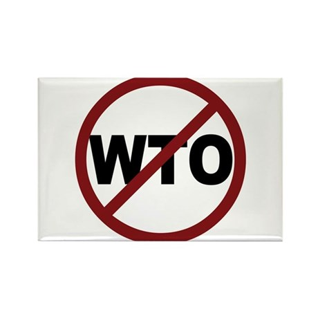 NO WTO Rectangle Magnet
