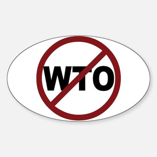 NO WTO Sticker (Oval)