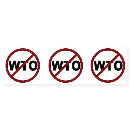 NO WTO Sticker (Bumper)