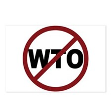 NO WTO Postcards (Package of 8)