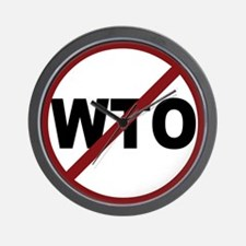 NO WTO Wall Clock