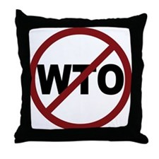 NO WTO Throw Pillow