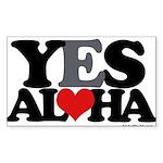 Yes Aloha Sticker (Rectangle 10 pk)