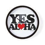 Yes Aloha Wall Clock