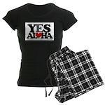 Yes Aloha Women's Dark Pajamas